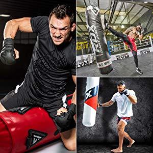 RDX Saco de Boxeo Relleno MMA Muay Thai Kick Boxing Artes Marciales con Soporte Techo Guantes Cadena 13PC 4FT 5FT Punching Bag: Amazon.es: Deportes y aire libre