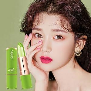 Aloe Vera Lipstick Magic Temperature Color Change Lip Gloss Crystal Jelly Lipstick Set