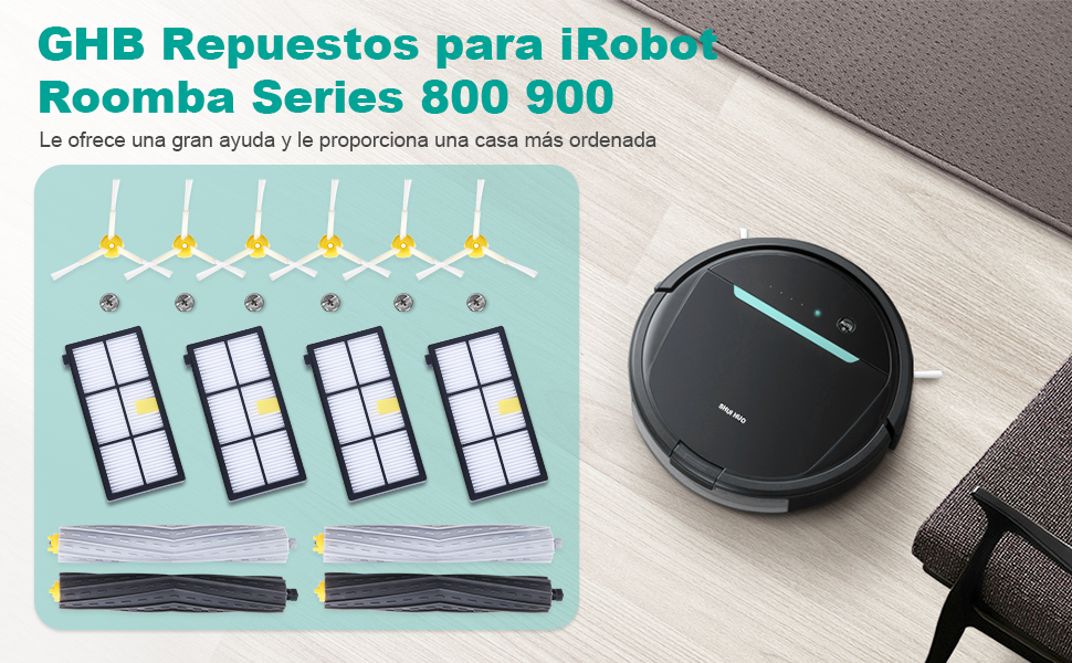GHB 14PCS Repuestos Roomba Serie 800 900 Recambios Roomba para ...