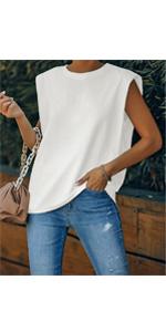 padded shoulder tank tops women sleeveless tank top