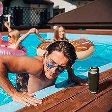 waterproof speakers loud loudest with speakerphone bluetooth