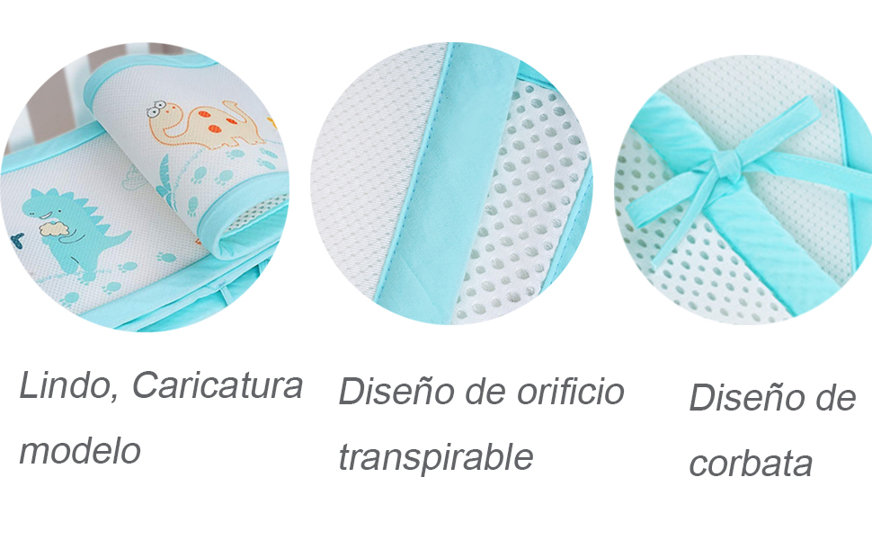 Protector de cama nido, Parachoques de malla de malla transpirable ...