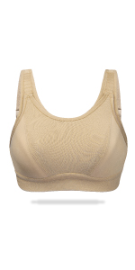high impact sports bra front adjustable wireless no padding full figure