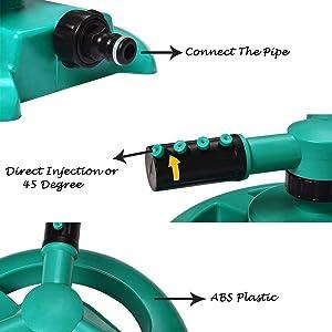 water sprinkler hose