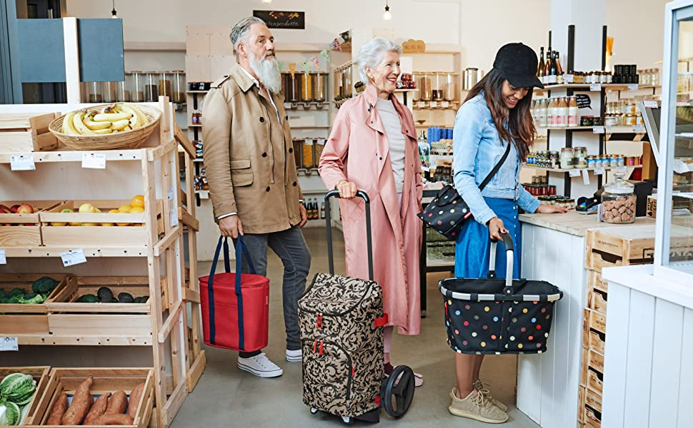 reisenthel mini maxi beachbag Shopper Strandtasche Freizeittasche Lemon Dots 40L