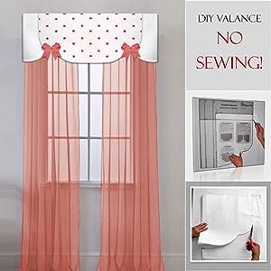 DIY nursery window treatment, no sewing, make easy children's valances for bedroom or nursery