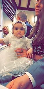 Newborn Satin Christening Baptism Outfit