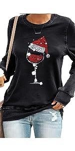 wine glass sweatshirt