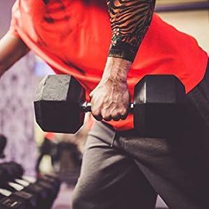 POWRX - Mancuernas cromadas 15 kg set (2 x 7,5 kg); Juego de pesas ...