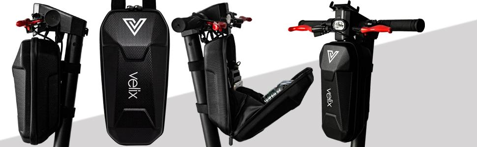 velix Lenkertasche für Elektroscooter in Schwarz