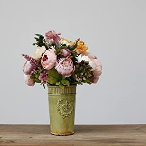artificial peony flowers vintage decoration