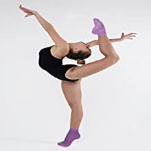 comfortable sore muscle tendons medical hospital adults elderly friction grips socks yoga pilates