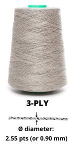 3-ply linen yarn