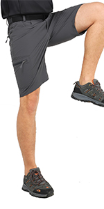 106men's hiking shorts grey