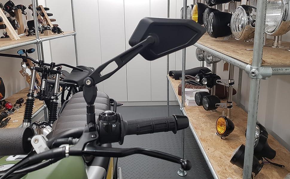 Classic MOBYLETTE Rétroviseur Miroir Set Generic Supermoto Racing v23