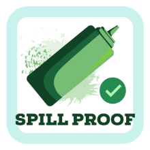 Spill Proof Squeeze Bottles