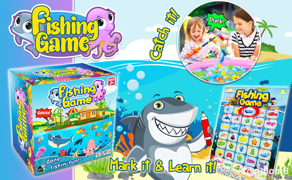 CozyBomB Magnetic Fishing Toys Game Set for Kids