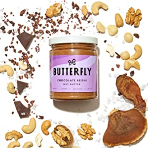Chocolate Reishi nut butter butterfly superfoods