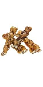 Redbarn Braided Bully Sticks for Dogs 5-inch