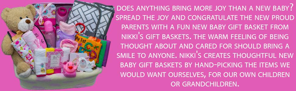 New Baby Girl Gift basket by Nikki's Gift Baskets