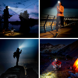 SGODDE USB Rechargeable LED Headlamp Fishing Camping Ultra Bright 260 Lumens Head Torch with 5 Lighting Modes /& Smart Sensor Car Repair Waterproof Lightweight Headlight for Running Hiking