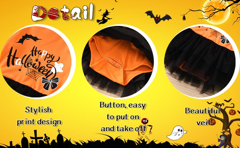 Moowu Halloween Outfits Newborn Baby Girls Skirt Halloween Clothes