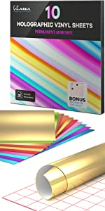 kassa permanent adhesive vinyl sheets holographic color for indoor outdoor projects craft designs