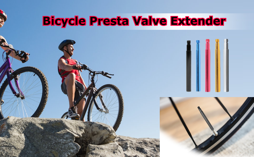Aluminum colorful  Presta Valve extenders for Bikes Bicycle tyre Inner tube EP