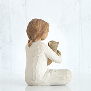 Willow Tree Kindness figure, detail of back.