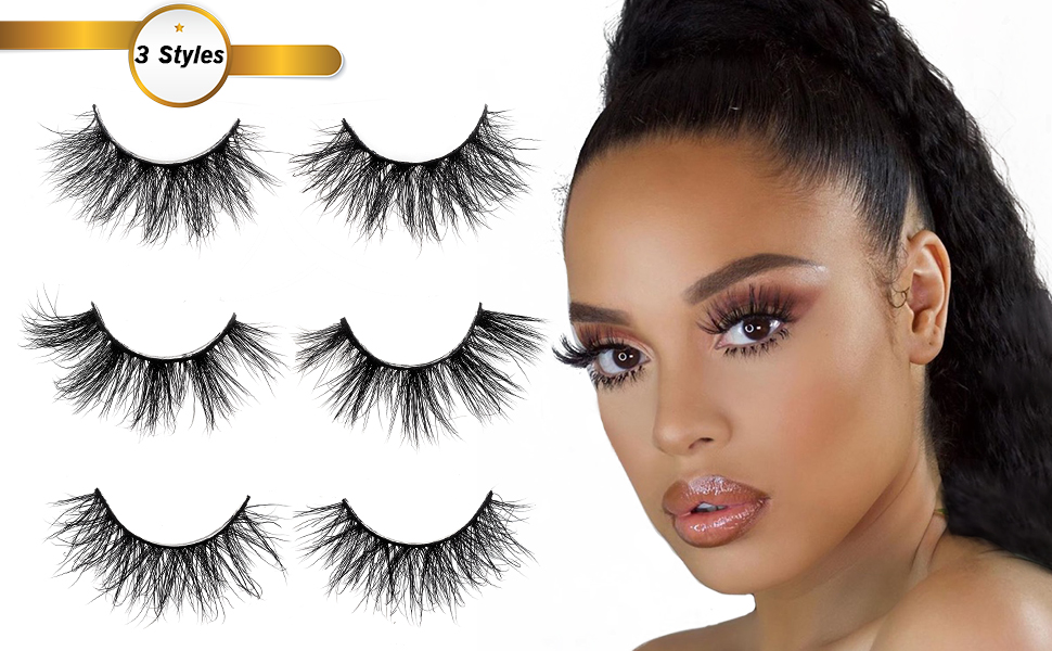 different styles lashes for women