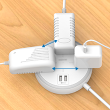 widely spaced power strip