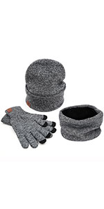 hat scarf and glove set for women men