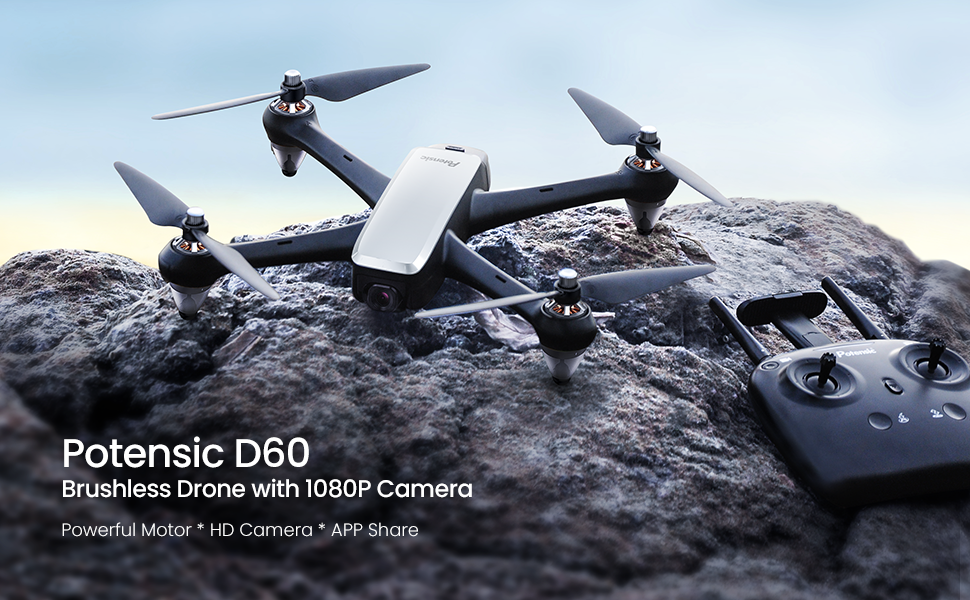 GPS FPV RC Drone with Camera Live Video 1080P HD, Quadcopter with 110° FOV Wide-Angle 5G WiFi