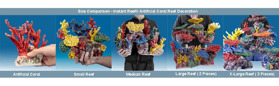 Instant Reef Artificial Coral Reef for Aquariums, aquarium coral reef decorations, fake corals