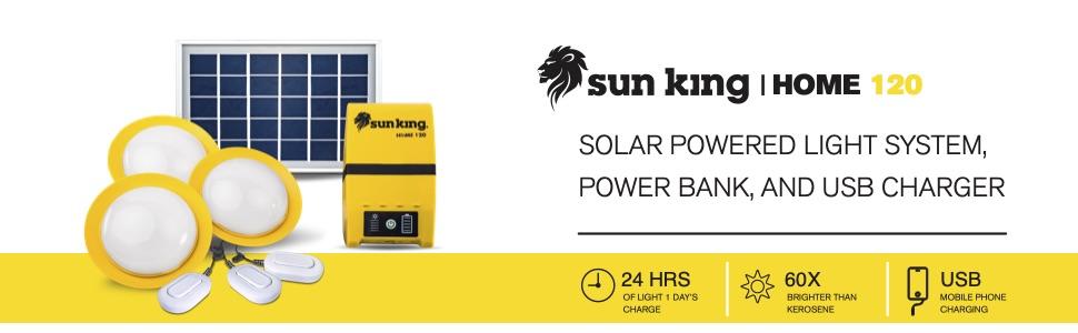 Sun King Home 120 - Solar Light for Home