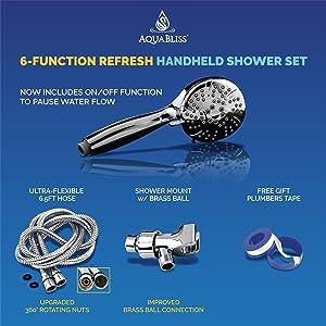 aquabliss theraspa handheld shower head