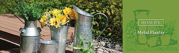 Hosley metal vase