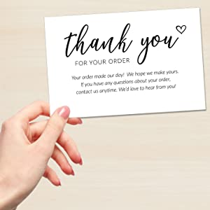 business thank you for your support inserts