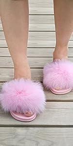 Pink Fur Slides
