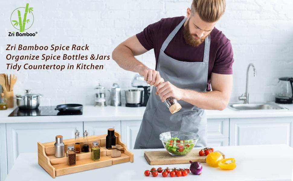 spice rack kitchen cabinet organizer display shelf