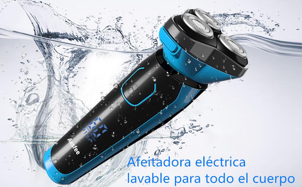 Afeitadora Eléctrica Hombre Impermeable Uso en Húmedo y Seco ...