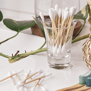 zenify earth bamboo cotton buds swabs qtips earbuds eco sustainable compostable ear bud plastic free