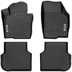 Amazon Com Oedro Floor Mats Compatible For 2011 2018 Volkswagen Jetta Sedan Unique Black Tpe All Weather Guard Includes 1st And 2nd Row Front Rear Full Set Liners Automotive