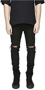 skinny ripped jeans for men distressed black slim fit rip pant designer tapered biker destroyed