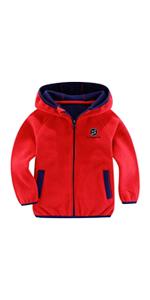 Boys Girls Fleece Jacket with Hood