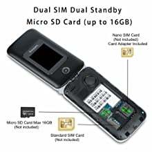 way to insert sim card, Micro SD card, battery