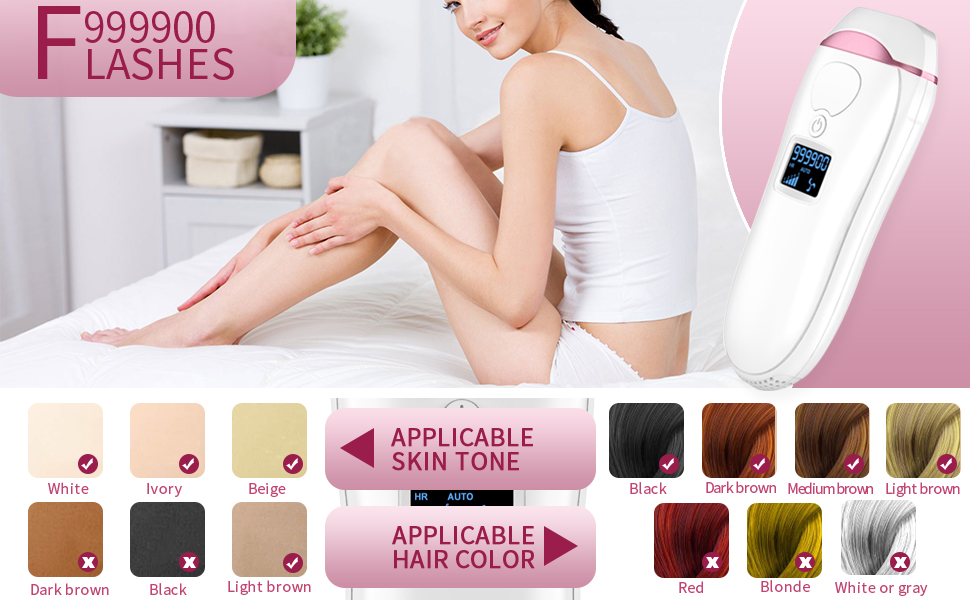 999900 FLASHES LASER HAIR REMOVAL