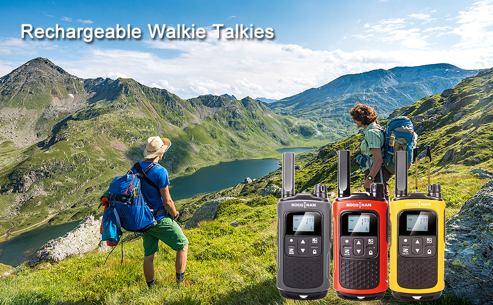 Rechargeable walkie talkies for adults long range 5 miles walky talky kids child grandson grandpa