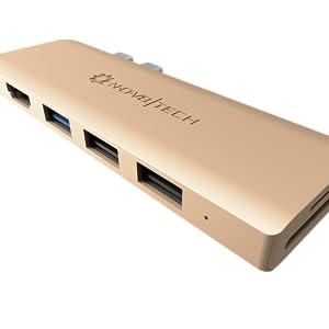 USB C Hub Type-C MacBook Pro Adapter 4K HDMI microSD/SD Thunderbolt Docking Station Fast Charging