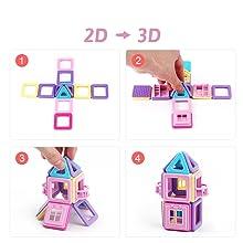 bloques de construcción magnéticos para niños pequeños